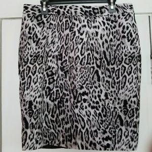 Leopard Print pencil skirt
